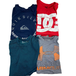 Under Armour, DC, Quiksilver Boys T-shirt Small